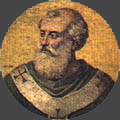Papst Johannes III.+574 - Darstellg. Basilika St. Paul v.d. Mauern