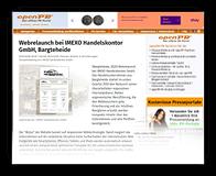 Grafik: Preview Pressemitteilung auf OPENPR für IMEXO Handelskontor GmbH, Bargteheide