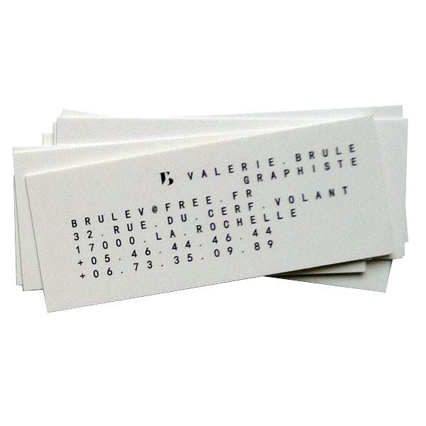 Valérie Brulé graphiste La Rochelle | minicartes de visite