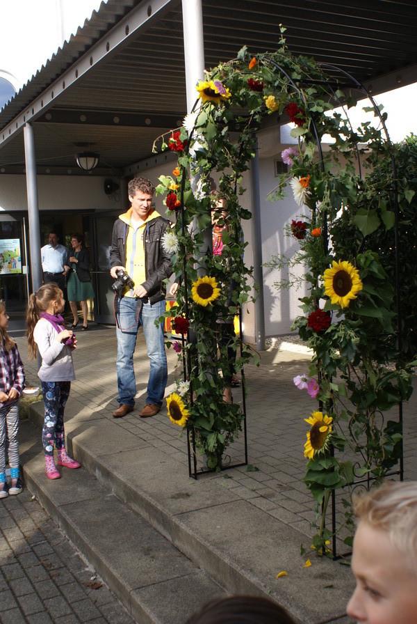ZUm Empfang Blumen!
