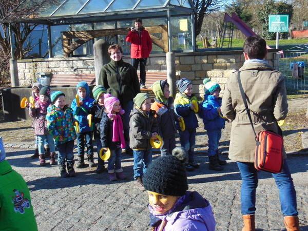 Zuschauer aus den Kindergärten