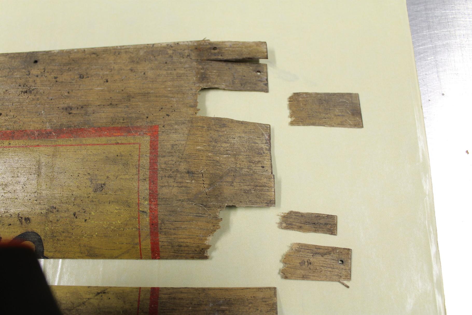 3- Récupération de la planche du dessus pour reconstitution et nettoyage