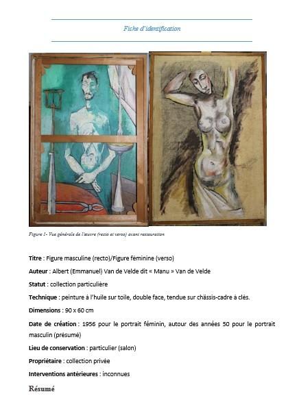 """fiche d""""identification de l'oeuvre"""
