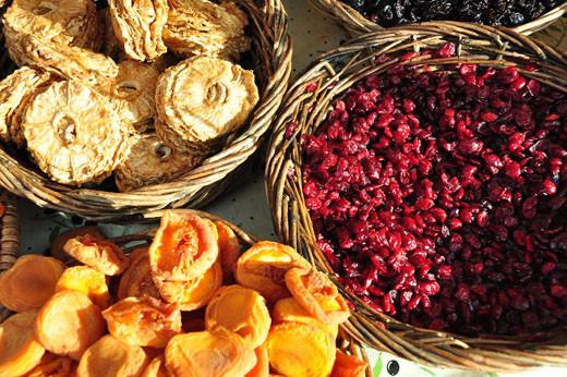 Getrocknete Ananas, Pirsiche, Cranberry