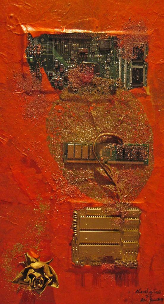 Cheval de Troie II - 22,5x40x4cm - Coll. privée
