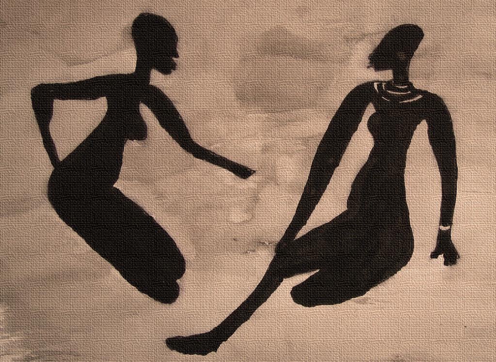 Tassili dialogue  - 21x29,7 cm - dessin encre de chine