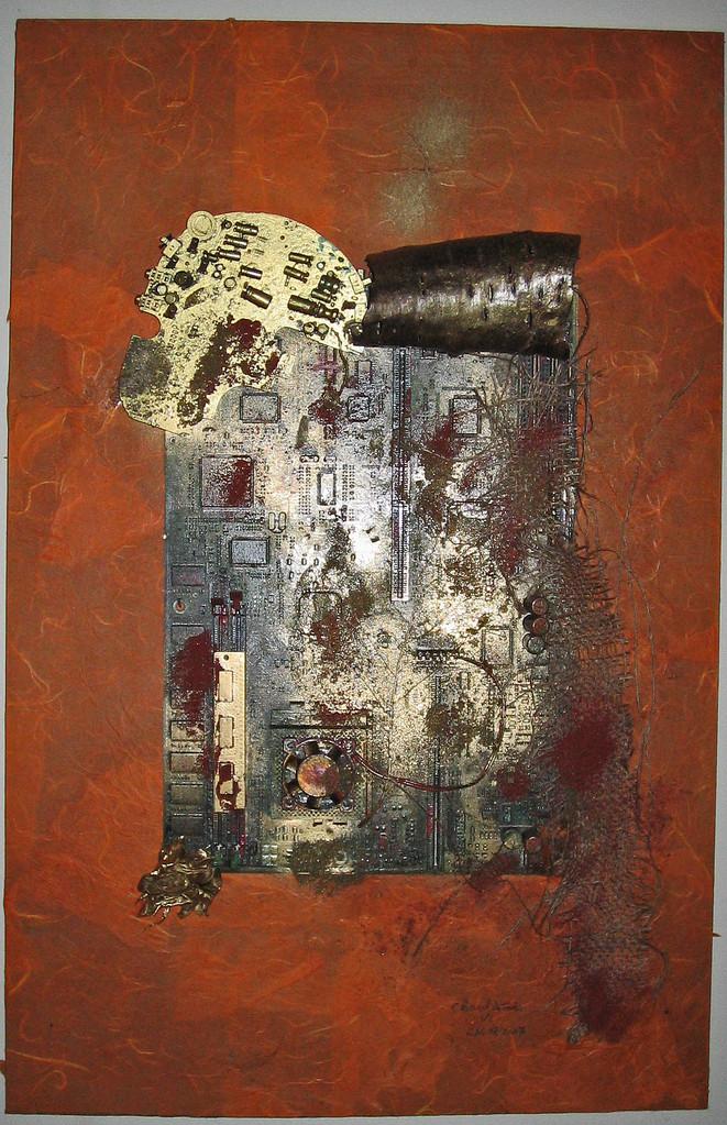 Cheval de Troie VI - 40x62x8 cm