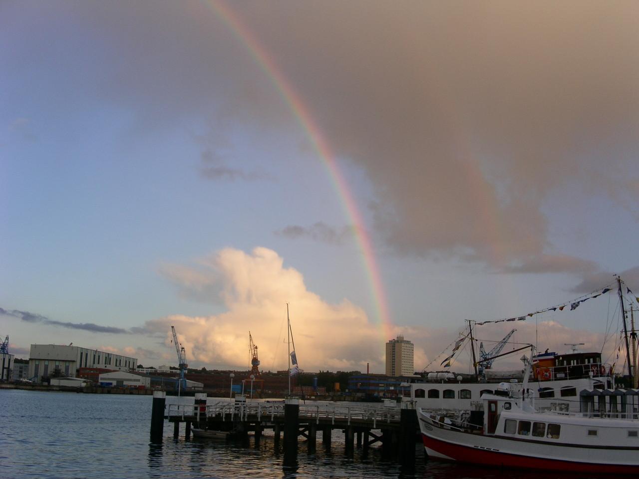 Regenbogen über Kiel