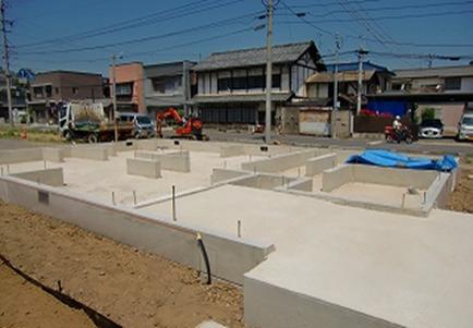 新築住宅基礎工事(完工)