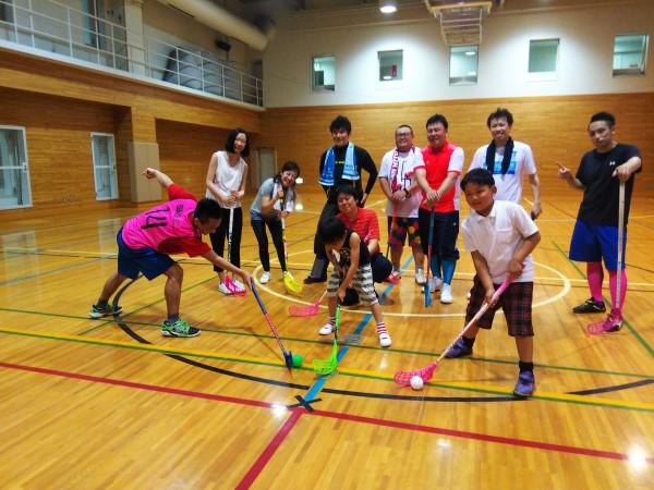 20180728札幌フロアボール体験会@宮の沢若者活動センター