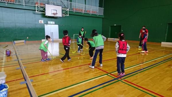 20181209興部町スポーツ少年団交流フロアボール大会