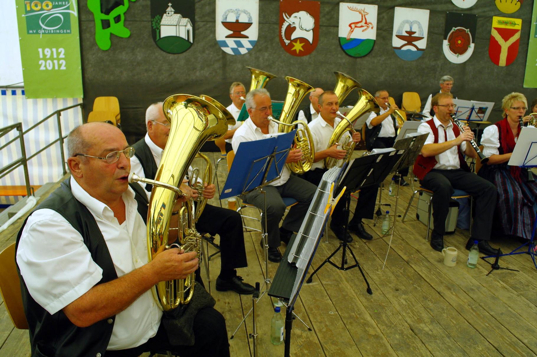 Unsere Seniorenkapelle beim Tälesmusikertreffen 2012 in Gruibingen