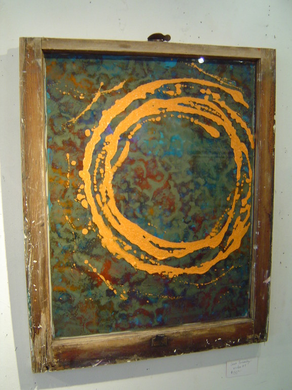 "Laura Fernandes ""Window #4"" 33""x31"" $175.00"