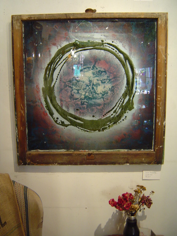 "Laura Fernandes ""Window #7""28""x28"" $180.00"