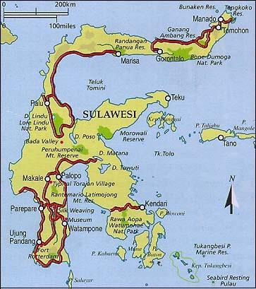 Map of Suluwesi