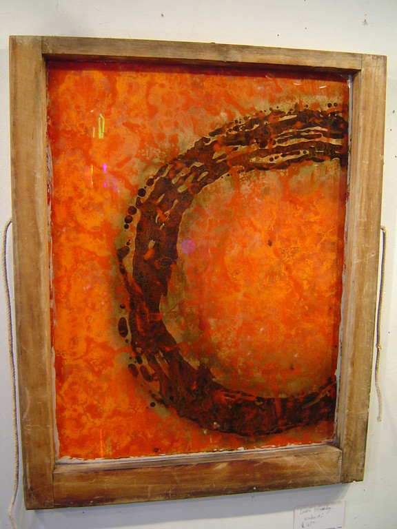 "Laura Fernandes ""Window #2"" 33""x31"" $175.00"