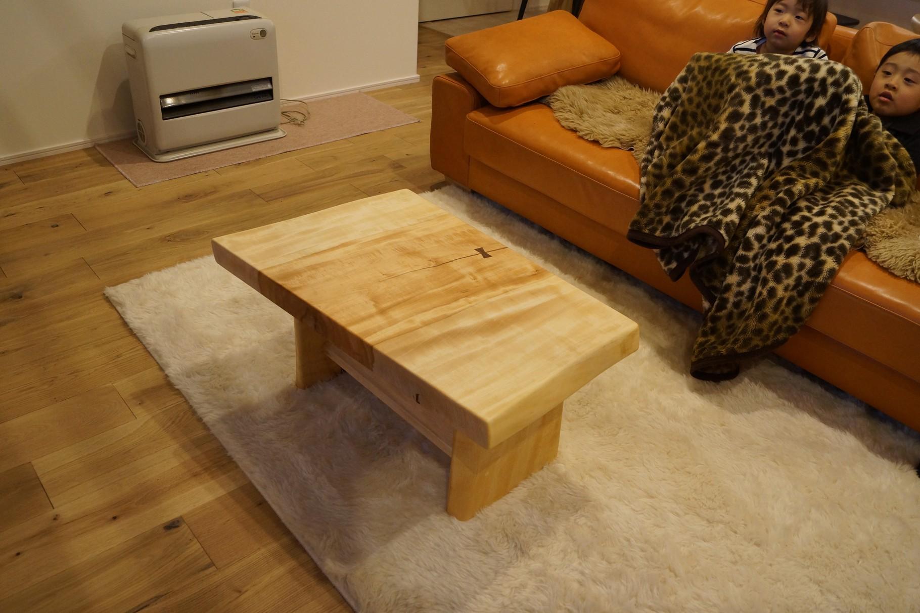 一枚板 センターテーブル トチ 広島