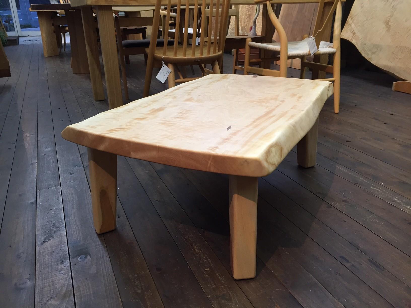 栃 センターテーブル 一枚板 広島