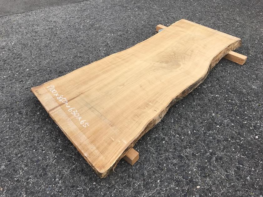 栗 一枚板 テーブル 広島