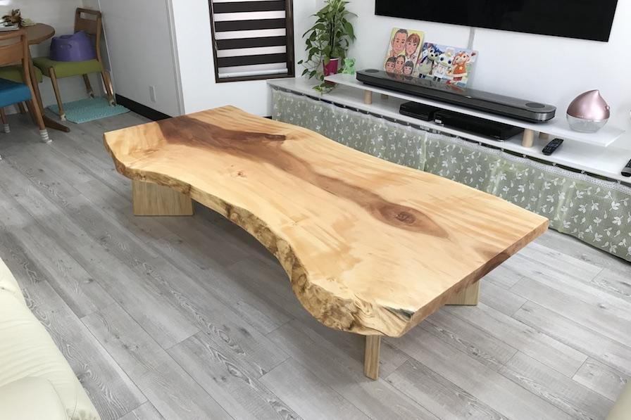 トチ 一枚板 テーブル