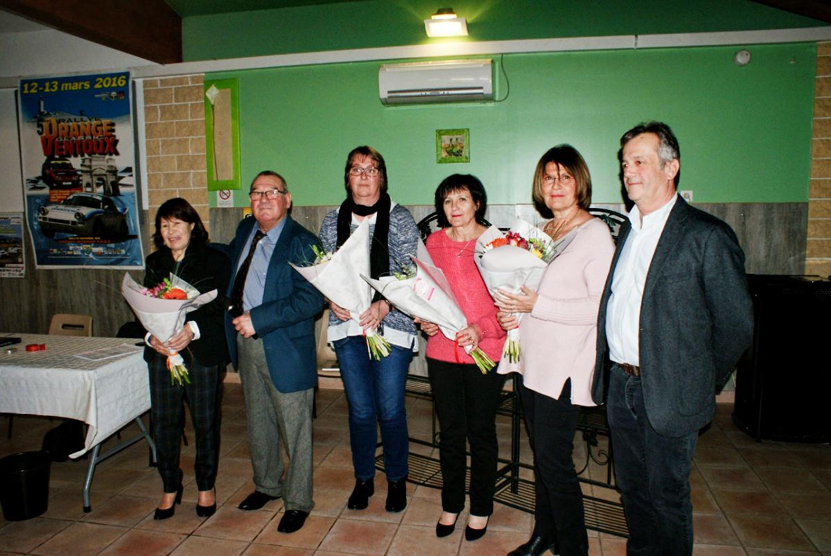 Nicole Priano, Thierry, Isabelle Sube, Véronique Bernardi, Josette Borie, et Marc.