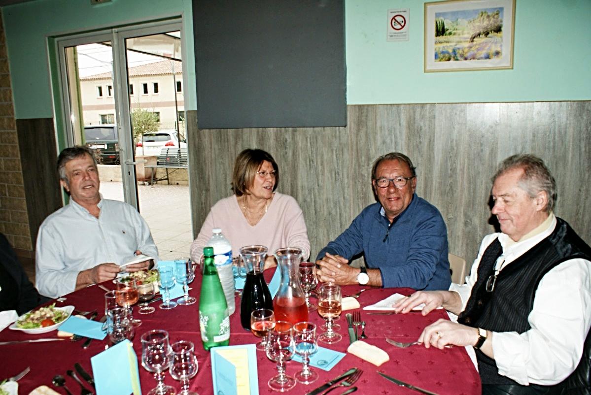 Marc, Josette, Régis Masquin et Henri Sain.