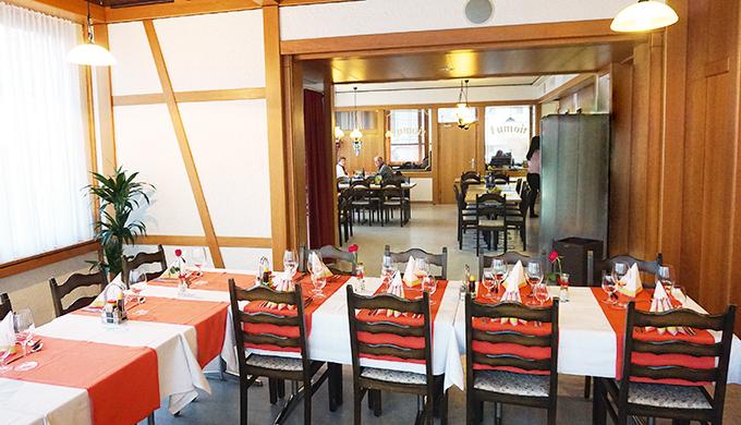 Restaurant mit Platz für ca. 40 Personen
