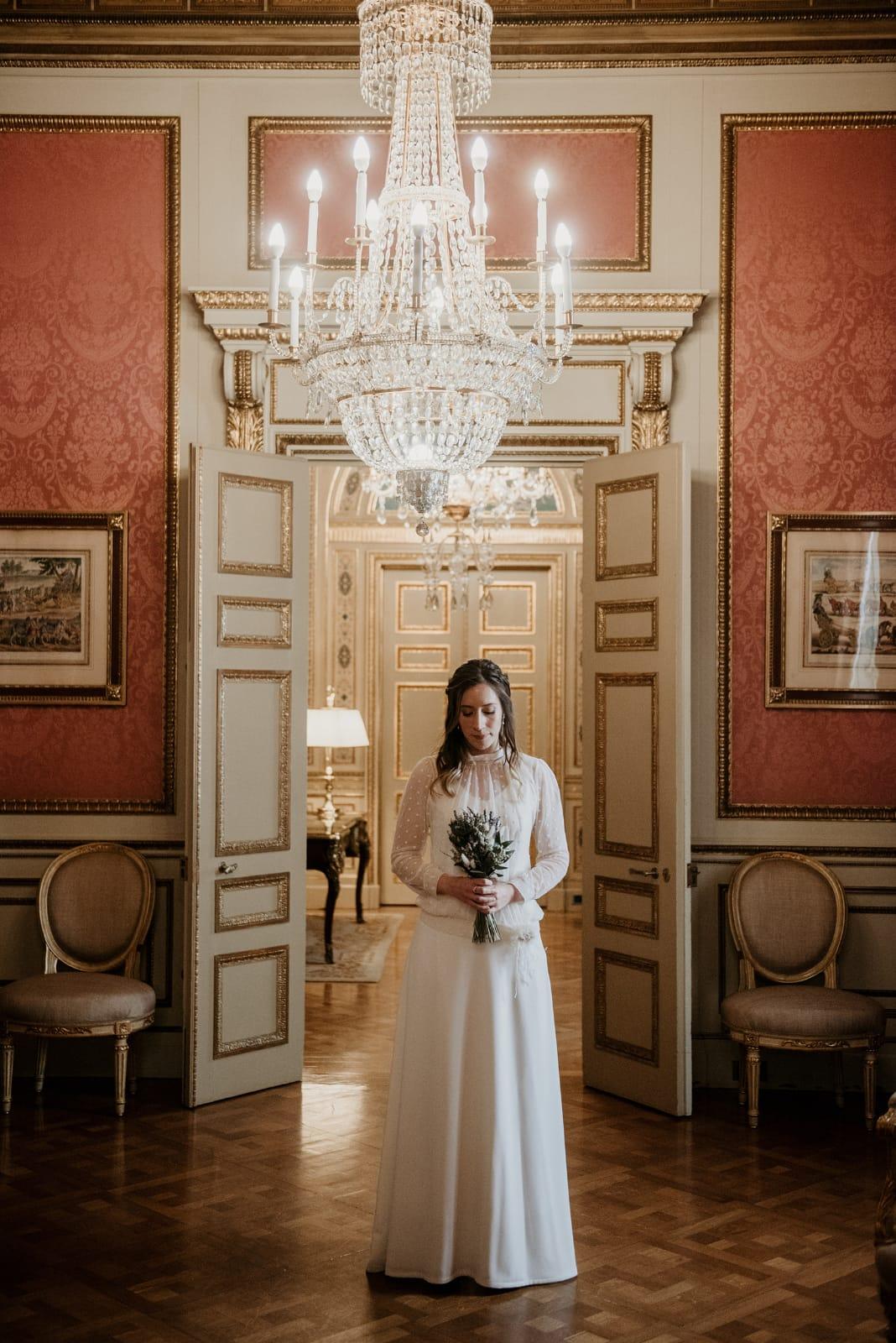 Vestit de núvia: l'Armari d'Eco. Model: Sandra Puig