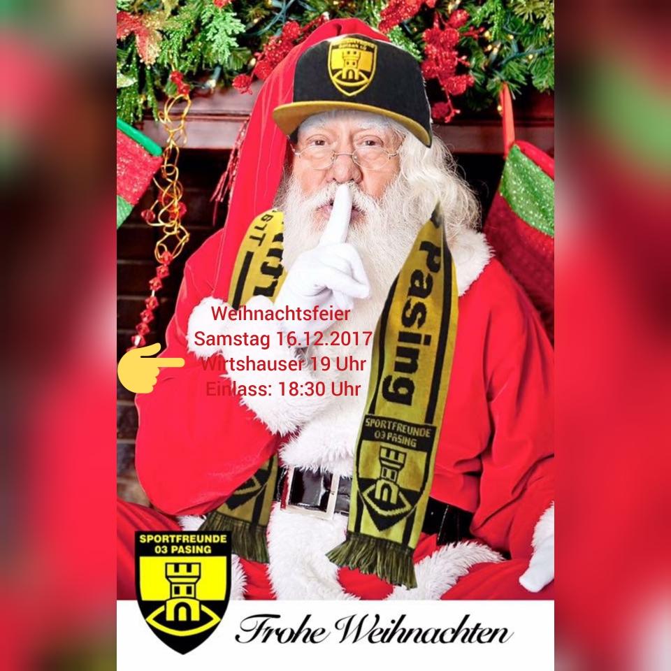 Termine der Weihnachtsfeiern:Samstag, der 16.12.2017 des Hauptvereins und Sonntag, der 17.12.2017 15:00 Uhr des Jugendbereichs