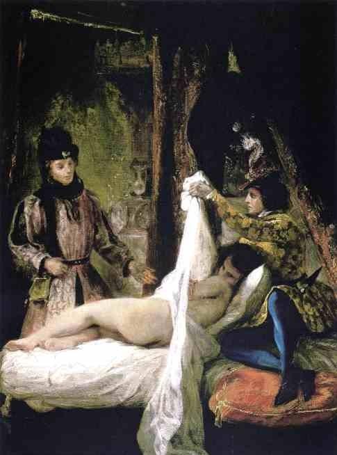Луи д ' Орлеанский показывает свою любовницу. 1825-26