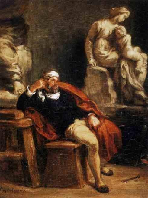 Микеланджело в студии. 1849-50