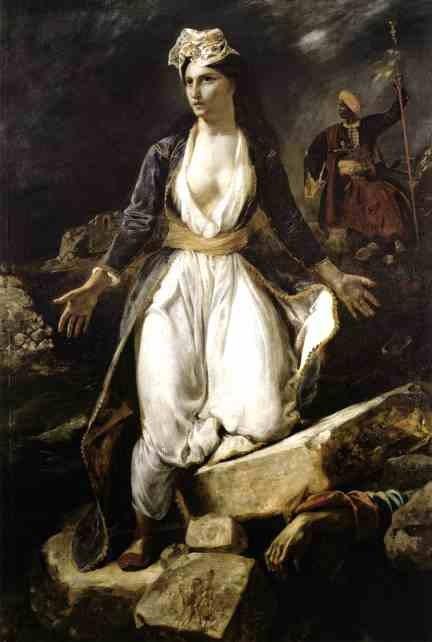 Греция на развалинах Месолонгиона. 1826