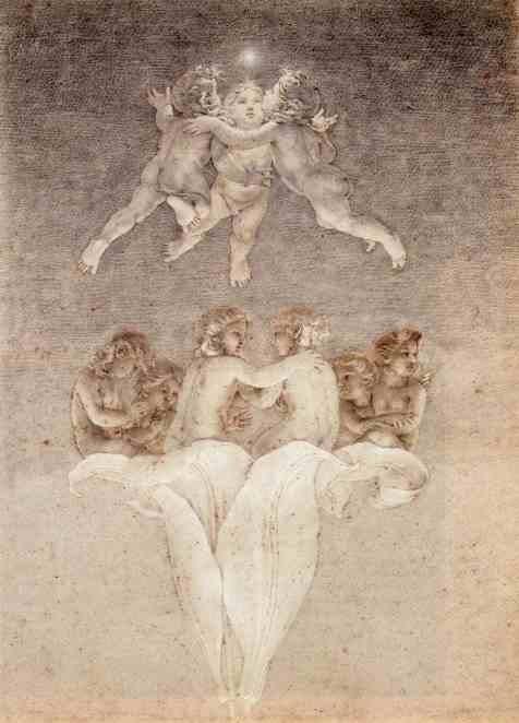 Гении на лилии. 1809