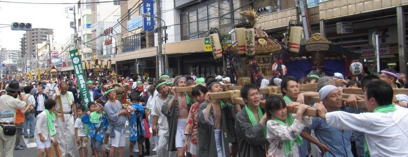 追浜まつり  If you have never joined a matsuri, I encourage you to try!  It is fun, but you will be exhausted at the end of the day!