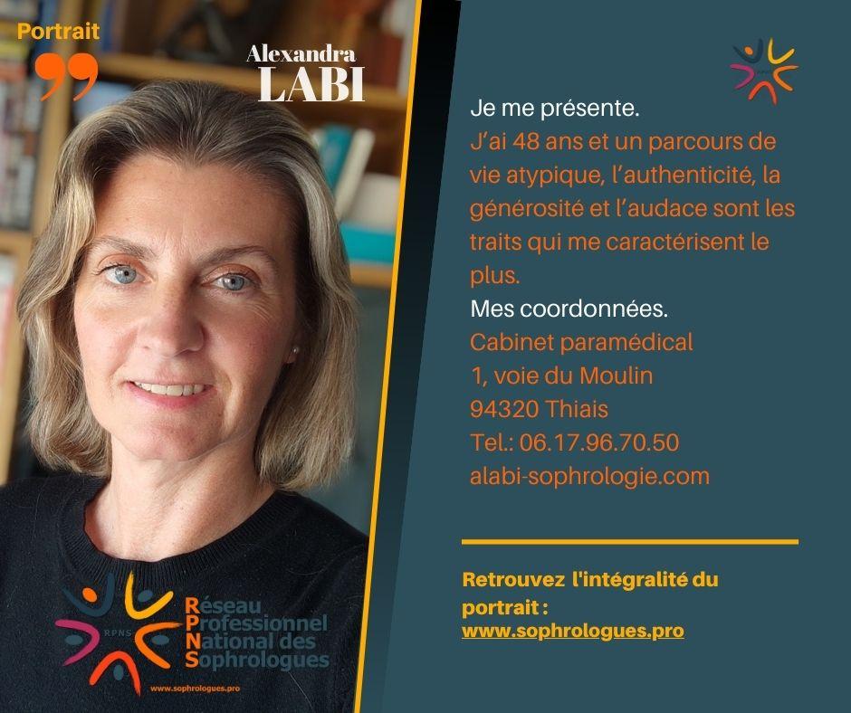 PORTRAITS de Sophrologues ! (by Marcella) Alexandra LABI  en 10 Questions.