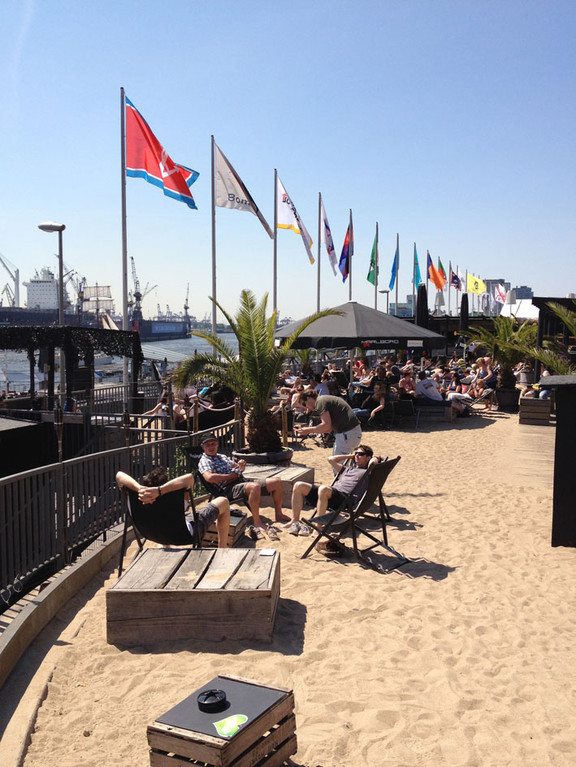 Strand direkt in Hamburgs City