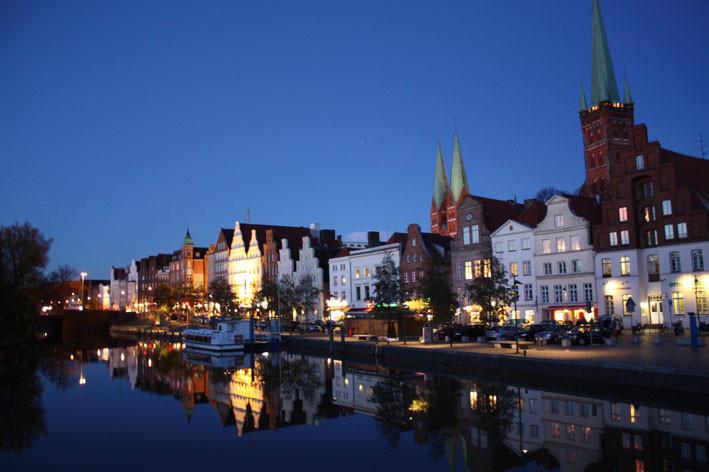 Abendstimmung an der Lübecker Obertrave