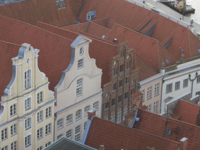 Lübsche Stadthäuser - ein Blick vom Petri-Kirchturm