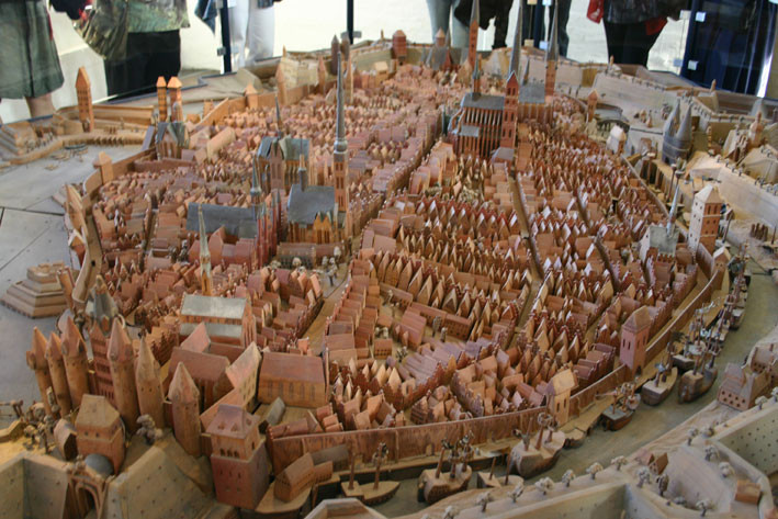 Das Lübeck - Modell im Holstentor