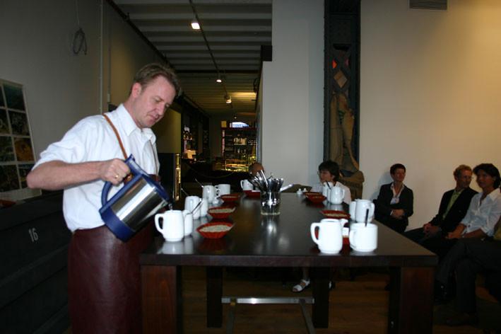 Eine Kaffee- Verkostung in der Hamburger Speicherstadt