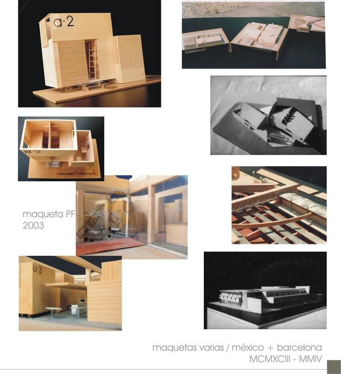 Maquetismo y colaboración interiorismo (1995-2003)