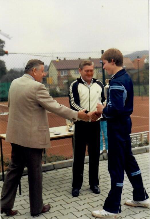 Siegerehrung Vereinsmeisterschaften 1984