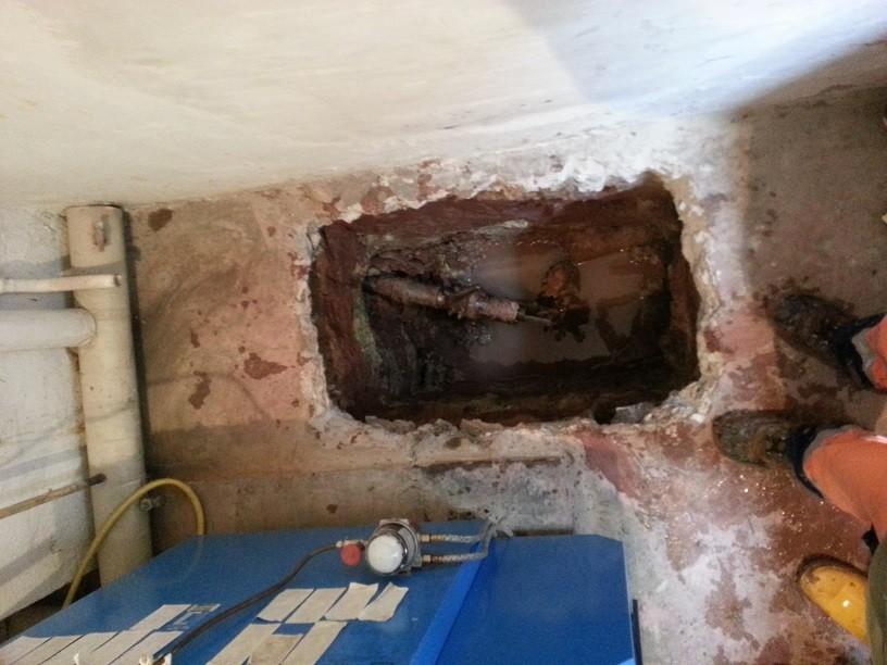... die Zielgrube im Keller genau getroffen...