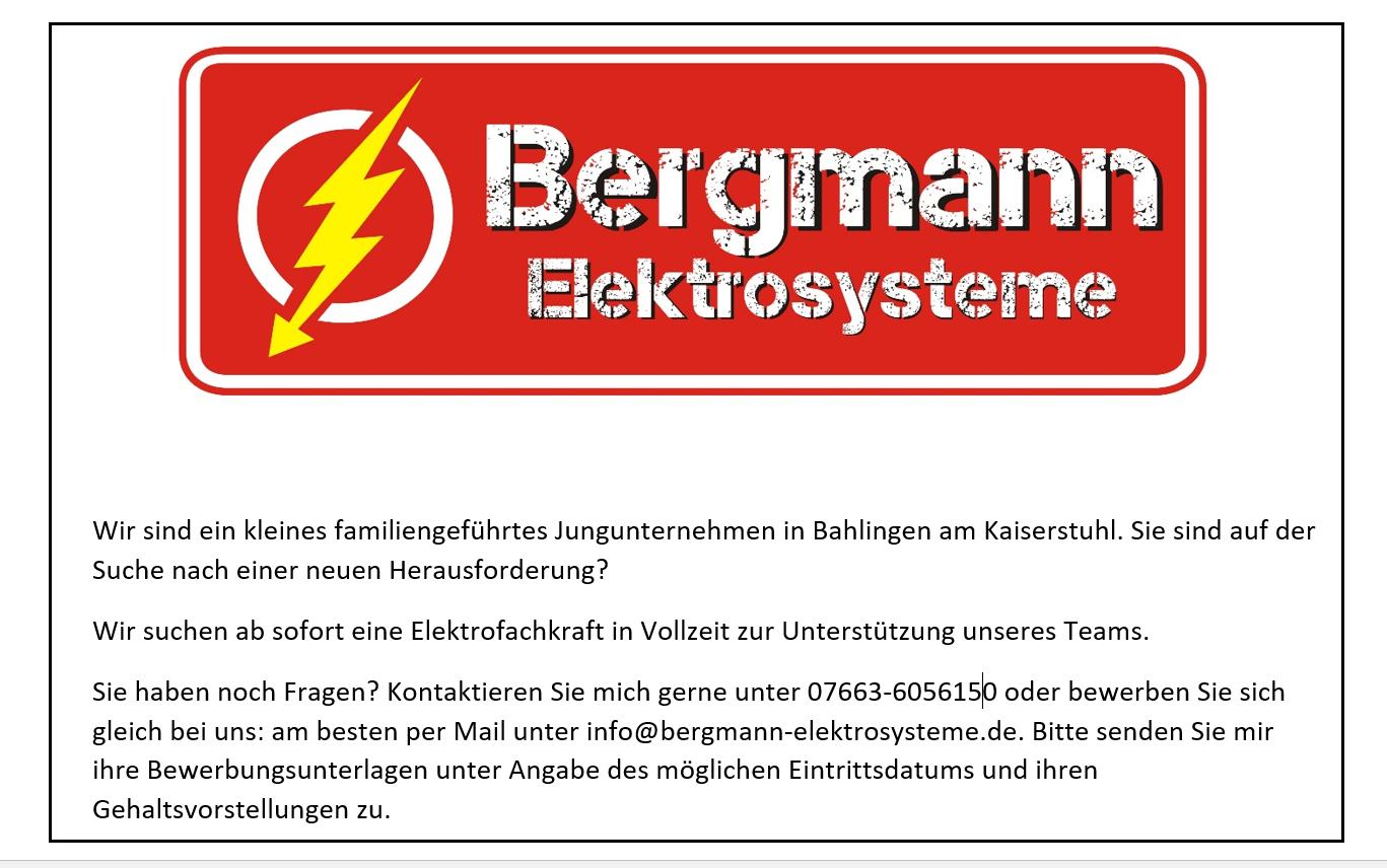 Jobs - bergmann-elektrosystemes Webseite!