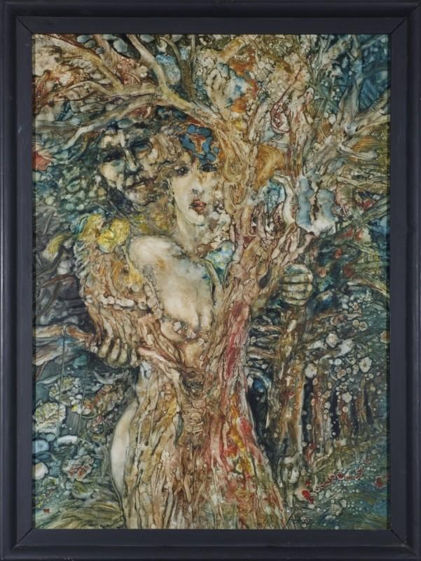 Lebensbaum, Öl auf Platte, 86 cm x 63 cm