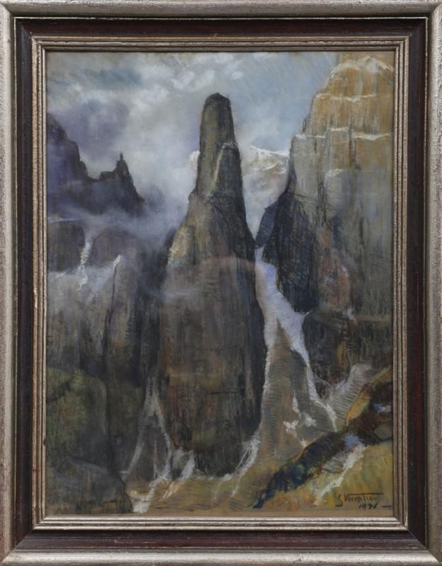 """""""Julia di Brenta"""" , Pastell auf Papier, 76 cm x 58 cm"""
