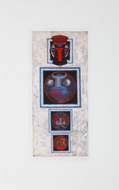 """""""L'homme"""" , Farbradierung, 49 cm x 23 cm"""
