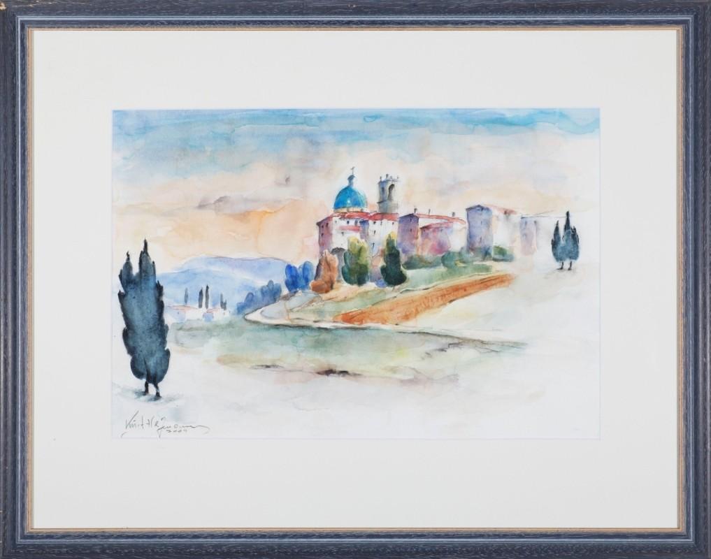 """""""Toscana"""", Aquarell, 31 cm x 46 cm"""