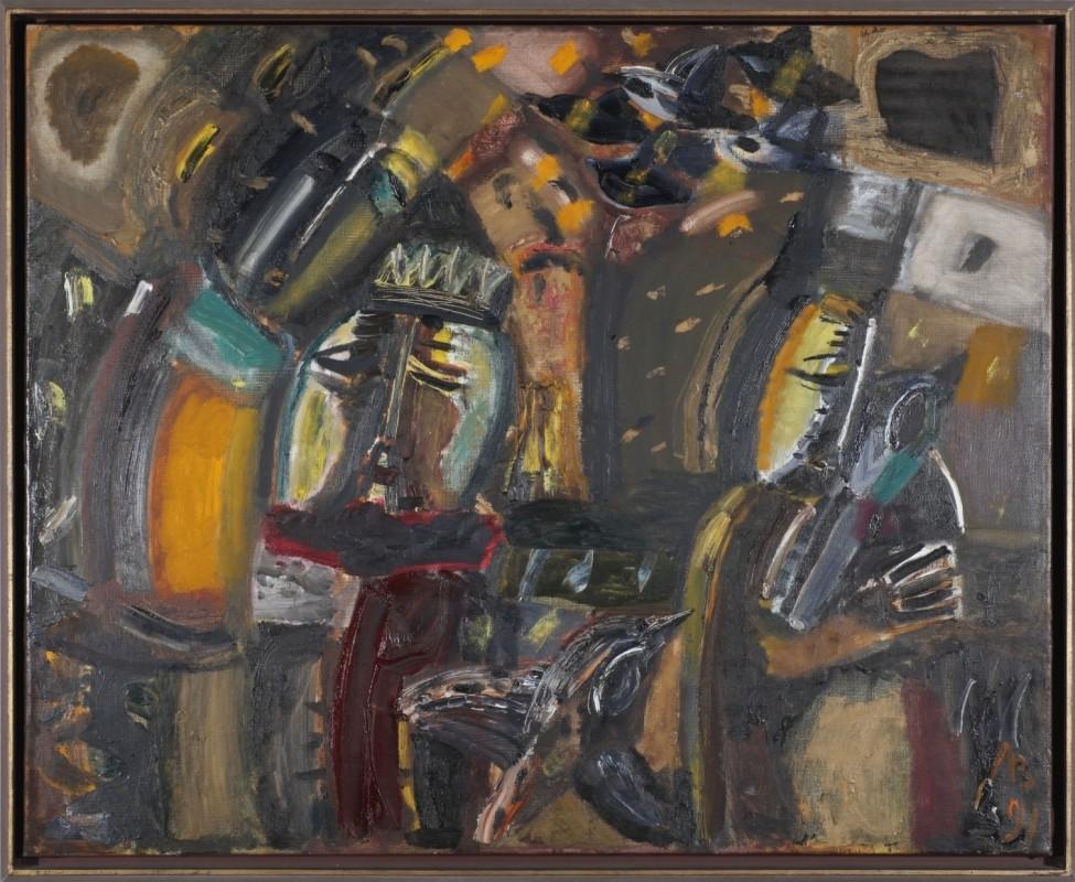 """""""Kummer"""", Öl auf Leinwand, 85 cm x 105 cm"""