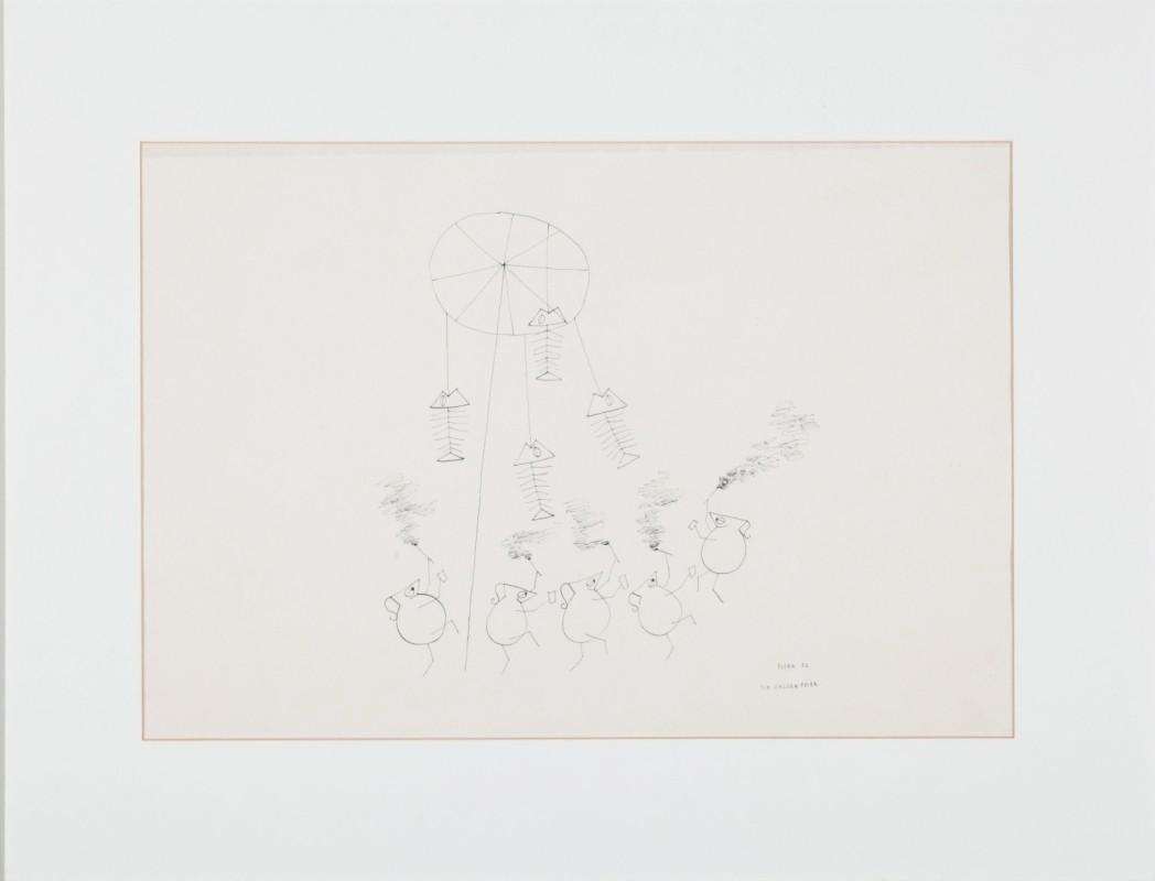 """""""Galgenfeier"""", Zeichnung, 35 cm x 50 cm"""